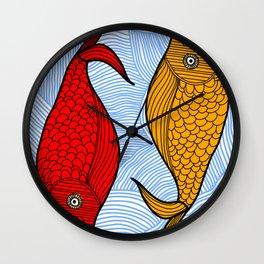Cute Fish in the Sea Wall Clock