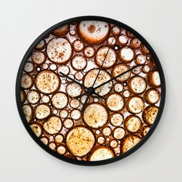 Oil on Water Bubble Abstract III Wall Clock