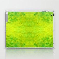 Yellow and Green Stripes Laptop & iPad Skin