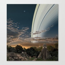 If the Earth had Rings: the View from Guatamala Canvas Print