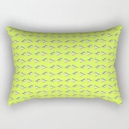 Blue Tits on Lime Rectangular Pillow