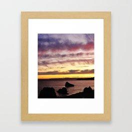 Algarve Sunset (Colour) Framed Art Print
