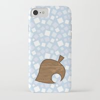 animal crossing iPhone & iPod Cases featuring Animal Crossing Winter Leaf by Rebekhaart