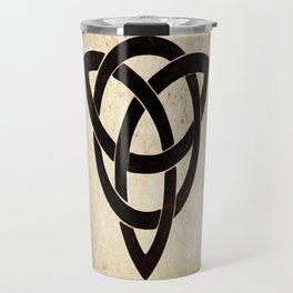 Celtic knot on old paper Travel Mug