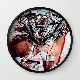 Diamond Head - Magazine Collage Painting Wall Clock