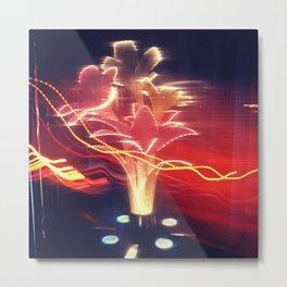 Electric Flowers Metal Print