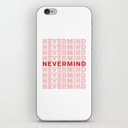 Nevermind take-out inspired print iPhone Skin