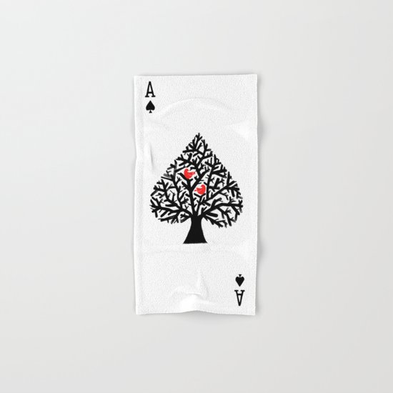 Ace of spade Hand & Bath Towel