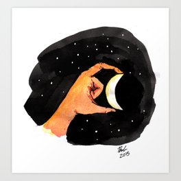 How does the moon mean? Art Print
