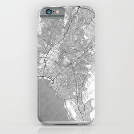 Athens Map Line iPhone Case