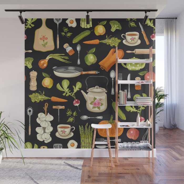 Soul Kitchen Wall Mural By Elsbet Society6