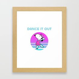 Dance It Out snoopy Framed Art Print