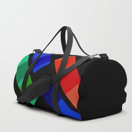 Retro Rocket Stripes 01 Duffle Bag