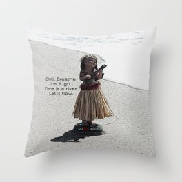 Wolfen Hula Babe Throw Pillow