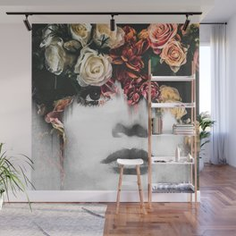 Floral Portrait Wall Mural
