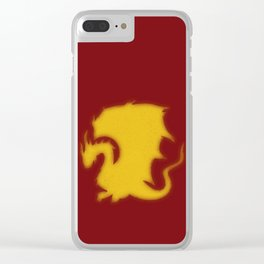Distressed Pendragon Crest Clear iPhone Case