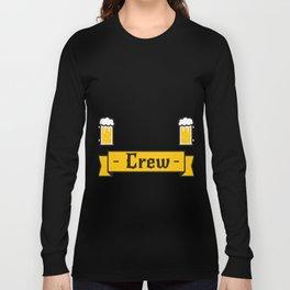 Groom Funny Groom's Brew Crew Long Sleeve T-shirt