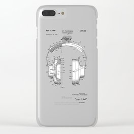 patent art Falkenberg Headphone assembly 1966 Clear iPhone Case