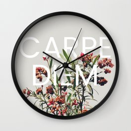 Carpe Diem Wall Clock