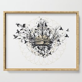Crown and Birds Serving Tray