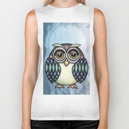Owl illustration drawing Biker Tank