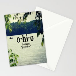 Ohio Great River Stationery Cards