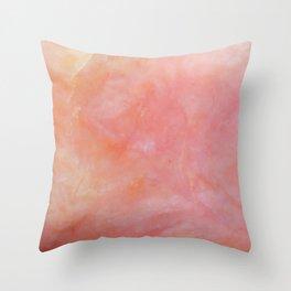 Pink Opal Texture Throw Pillow