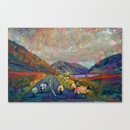 The Twelve Bends, Connemara, Ireland Canvas Print