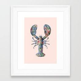 FLORAL LOBSTER Framed Art Print