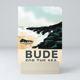 Bude Cornwall travel poster Mini Art Print