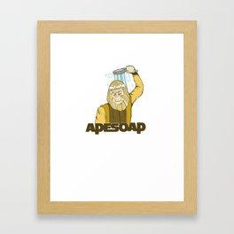 Dr. Zaius Ape Soap Framed Art Print
