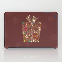 gift card iPad Cases featuring Christmas Gift 01 by BlueLela