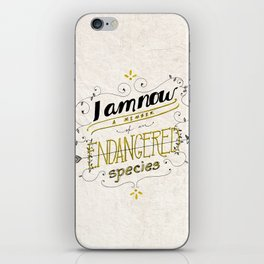 Endangered species iPhone Skin