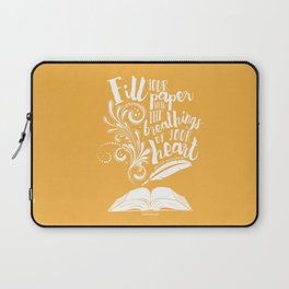 The Breathings of Your Heart Laptop Sleeve
