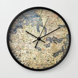 Fra Mauro world map (15th century) Wall Clock
