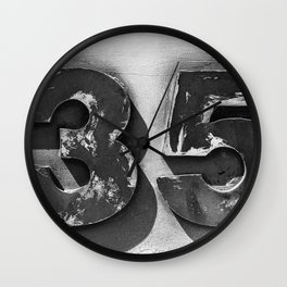 Vintage Sign Thirty Five Wall Clock