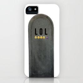 LOL Tomb iPhone Case