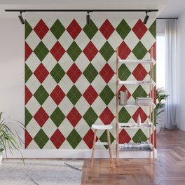 Christmas Argyle Pattern Wall Mural