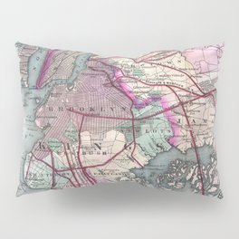 Vintage Map of The NYC Metro Area (1880) Pillow Sham