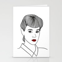 blade runner Stationery Cards featuring Rachael. Blade Runner by Whiteland