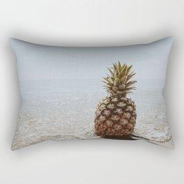 pineapple at the beach ii Rectangular Pillow