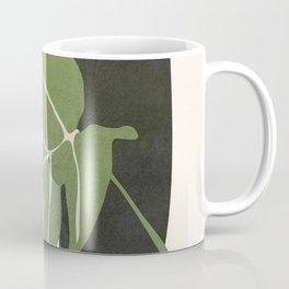 Abstract Monstera Leaf Coffee Mug