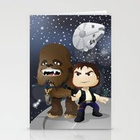 han solo Stationery Cards featuring Han Solo & Chewbacca by 7pk2 online