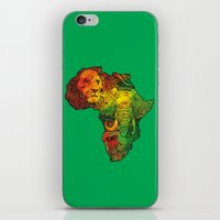 africa iPhone & iPod Skins featuring Africa by RicoMambo