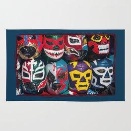Mexican Wrestler Masks Rug
