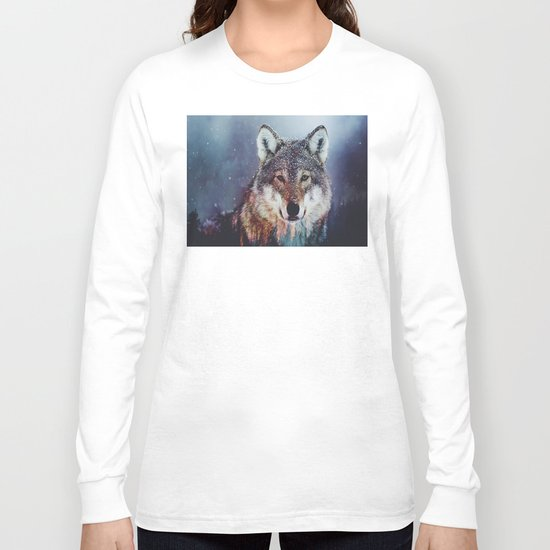 Wolf Double exposure Long Sleeve T-shirt