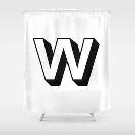 Letter W ... As Easy As ... Shower Curtain