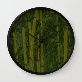 Bamboo jungle Wall Clock