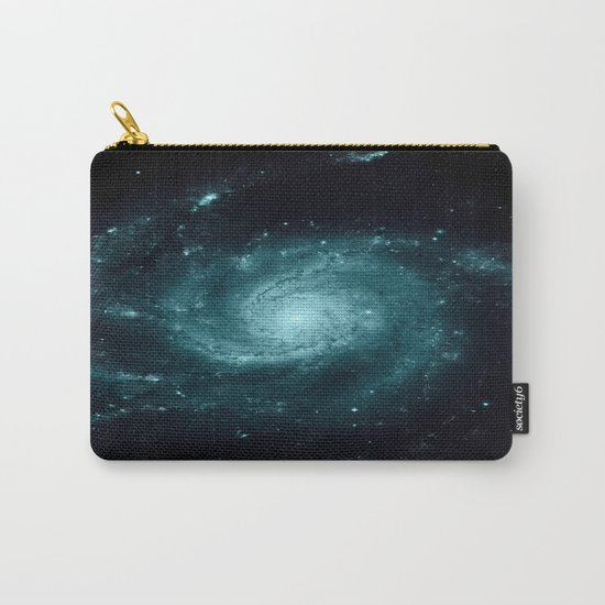 Spiral gALAxy Teal Carry-All Pouch