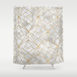 Art Deco over Stone II Shower Curtain